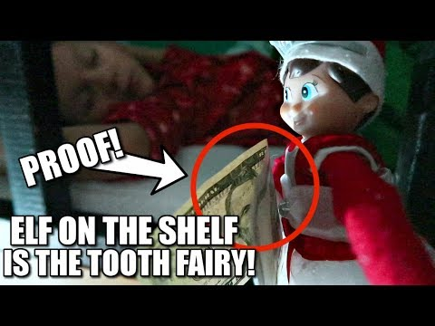 PROOF! ELF ON THE SHELF IS THE TOOTH FAIRY! CAUGHT MOVING ON CAMERA!