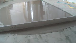 Trick for Leveling a Concrete Floor
