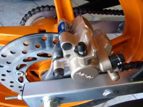 Rear Brake Caliper Removal 2011 14 Honda Cbr125r Youtube