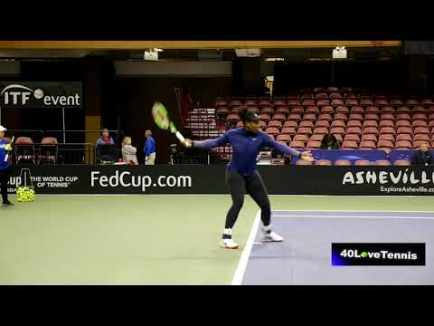 Serena Williams Practice (FED cup)