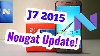 Galaxy J7 2015 Comiensa a recibir Android 7.1.1