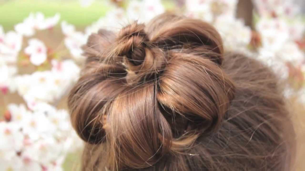 お花のまとめ髪 sakura updo hair under cherry blossom trees - youtube