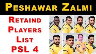 PSL 2019 Retains Players List | Peshawar Zalmi Retains Players List For PSL 2019 | Peshwar Zalmi