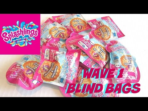 BRAND NEW! TOYS R US EXCLUSIVE - SPLASHLINGS BLIND BAGS - OPENING