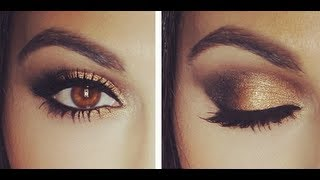 Gold Smoky Eye Tutorial | Eye Makeup Tutorial | Teni Panosian