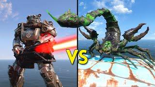 Fallout 4 - 100 RADSCORPIONS vs 25 BROTHERHOOD of STEEL - Battles #28