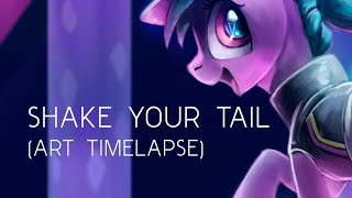 Shake Your Tail (My Little Pony Art Time-lapse)