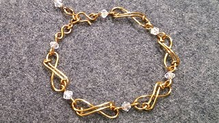 How to do simple Infinity bracelet for beginners  202