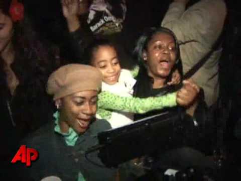 Jubilation in Harlem Following Obama Victory