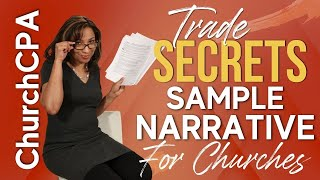 [Form 1023] Sample Narrative for Church