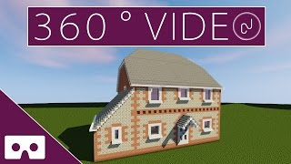 Building My Real House In Minecraft 360° VR