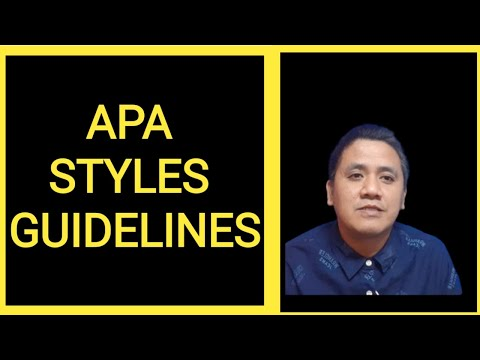 Thesis Writing - APA Styles Guidelines
