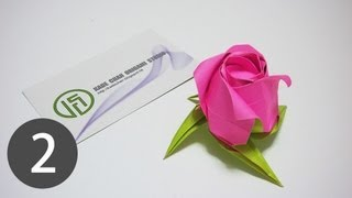 Part2 : Origami Rose Of Janessa Tutorial 摺紙玫瑰花教學 ( Kade Chan )