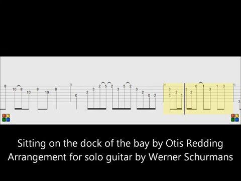 Tabs And Score For Solo Guitar Fingerpicking Sitting On The Dock