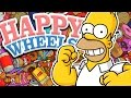The Simpsons IN HAPPY WHEELS !!! (Happy Wheels Funny Moments)
