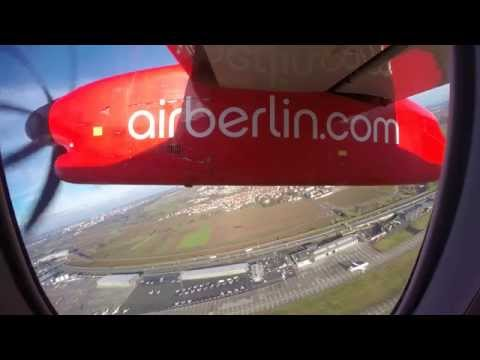 Air Berlin || Dash 8 TRIP REPORT || STR to TXL || LOUNGE ACCESS