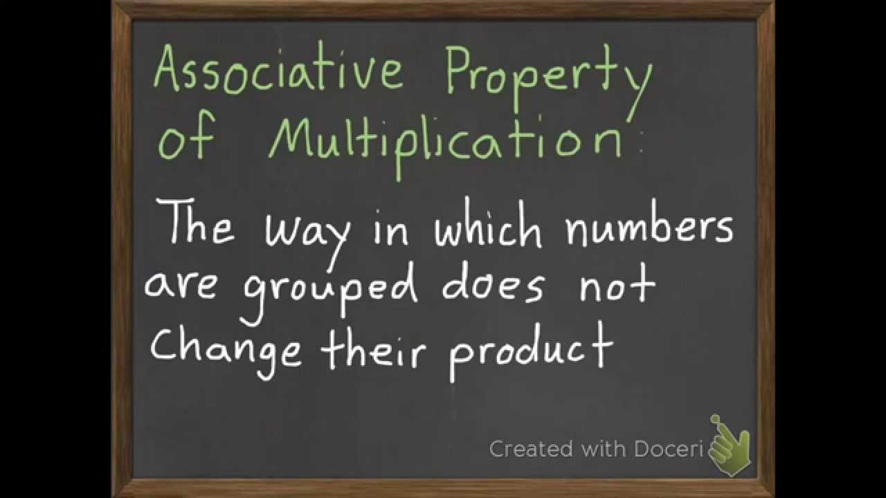 small resolution of The Associative Property of Multiplication 3-6 - YouTube