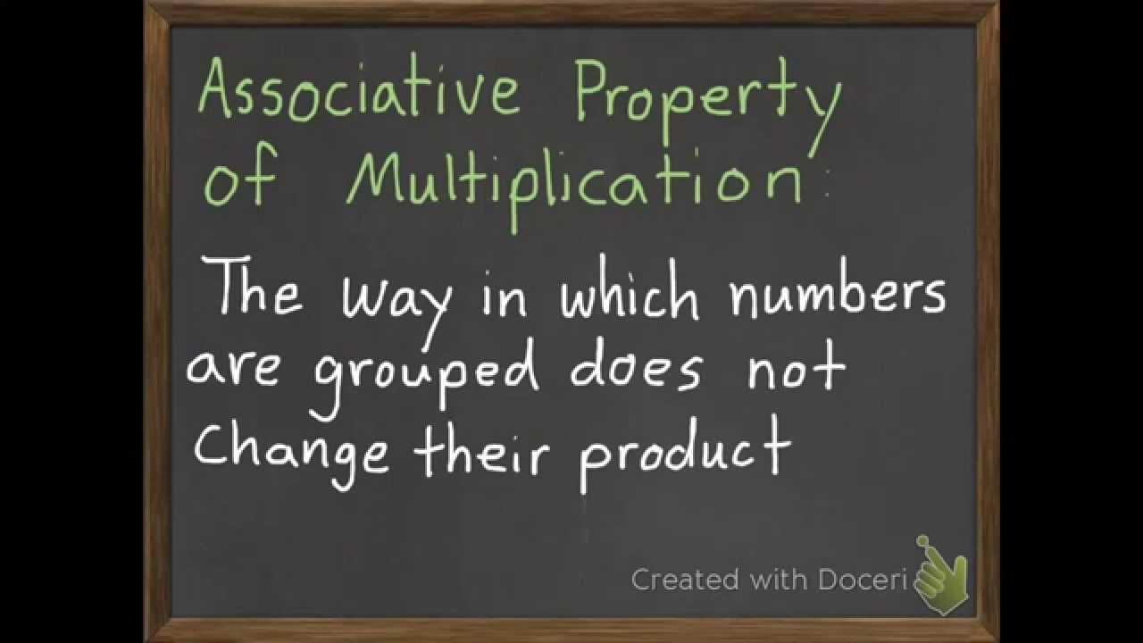medium resolution of The Associative Property of Multiplication 3-6 - YouTube