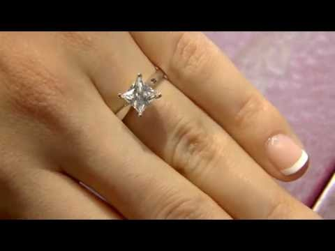 1.30 Carat Princess Cut Diamond Engagement RIng