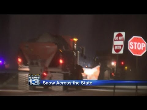 Winter storm slams New Mexico
