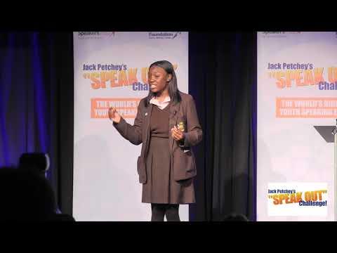 Alexia Powell Williams, Third, Jack Petchey's Speak Out Challenge! Southwark Regional Final 17-18