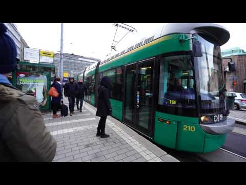 Finland, Helsinki, Central Railway Station, Trams