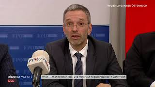 Pressekonferenz mit FPÖ-Innenminister Herbert Kickl  am 20.05.19