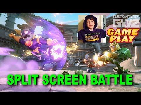 Plants Vs Zombies Garden Warfare 2 Split Screen Battle Youtube