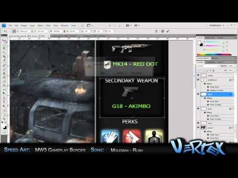MW3 Gameplay Border Design   Speed Art