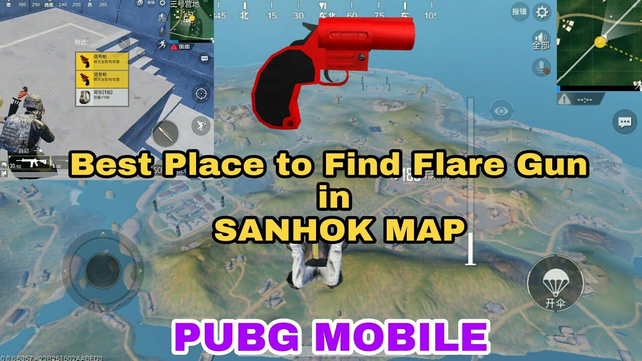 Pubg Wallpaper Flare Gun: PUBG MOBILE Best Place To Find Flare Gun In Sanhok Map