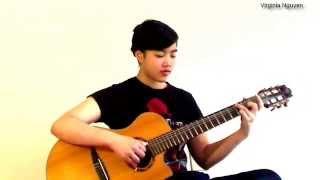 Về Đâu Mái Tóc Người Thương - Guitar Virginia Nguyen(Mẫn)