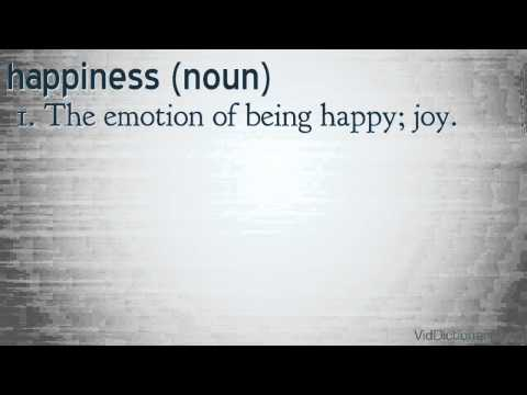 happiness - definition