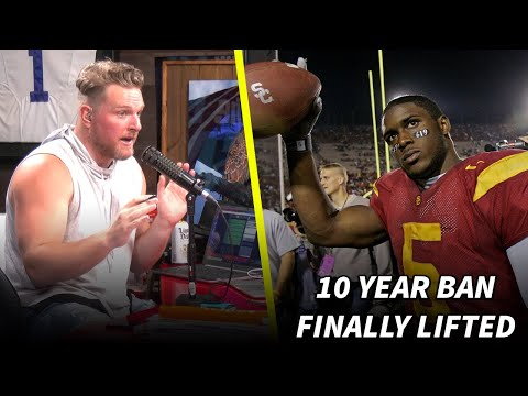 Pat McAfee Reacts To Reggie Bush's USC Ban Being Lifted