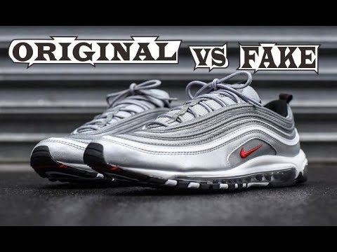 febc618c28 Nike Air Max 97 OG Silver Original & Fake - YouTube