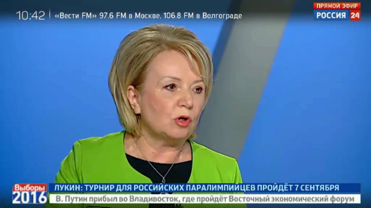 Эмилия Слабунова на дебатах