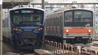 【相鉄線との並び】205系ケヨM6編成 武蔵野線(貨物線)で試運転