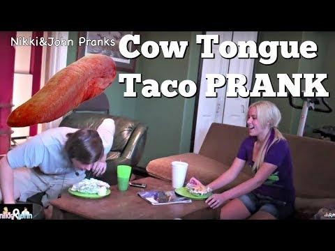 Cow Tongue Taco Prank