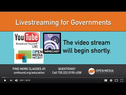 Livestreaming for Governments