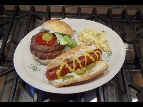 Artisan Hamburger & Hot Dog Buns (Easy... No Kneading... No Mixer... No Yeast Proofing)
