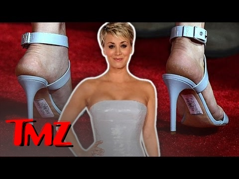 Kaley Cuoco Has A Red Carpet Fail! | TMZ