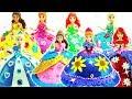 8 Disney Princess Dolls Makeover - Plasticine Art & Crafts Princess Dresses