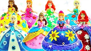 8 Disney Princess Dolls Makeover - Plasticine Art & Crafts Princess Dresses