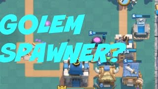 clash royale spawner golem deck   conxfly gaming