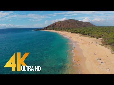4K Drone Footage - Bird's Eye View of Maui Island, Hawaii - 3 Hour Ambient Drone Film