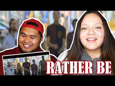 [Official Video] Rather Be - Pentatonix (Clean Bandit Cover) | COUPLES REACTION 2018