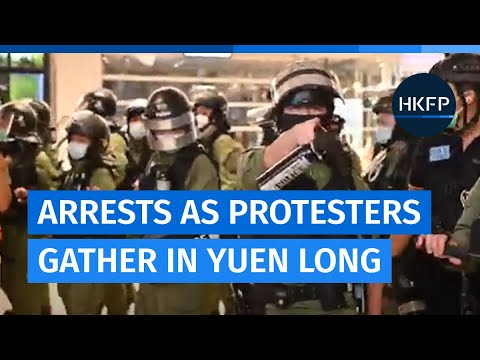 Arrests as protesters gather in Yuen Long one year after mob attacks