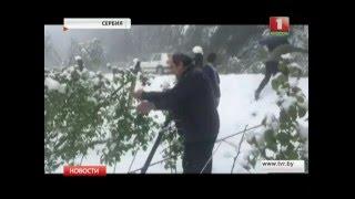 В мае в Сербии выпал снег