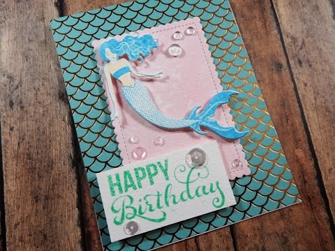 Mermaid Birthday Card Color Throwdown Challenge 427 Youtube
