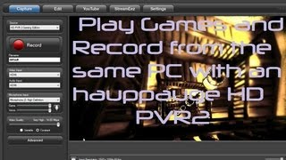 Play and record from the same laptop HD PVR2