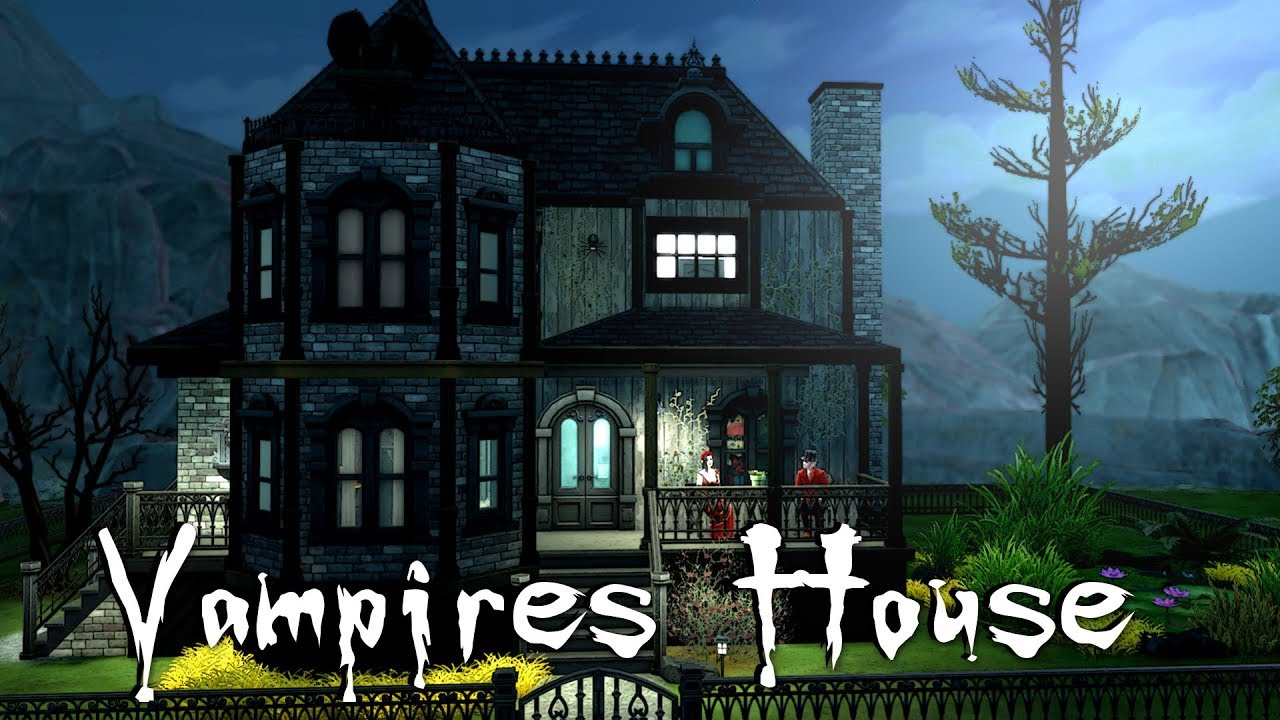 The Sims 4 Speed Build Vampire House NO CC YouTube